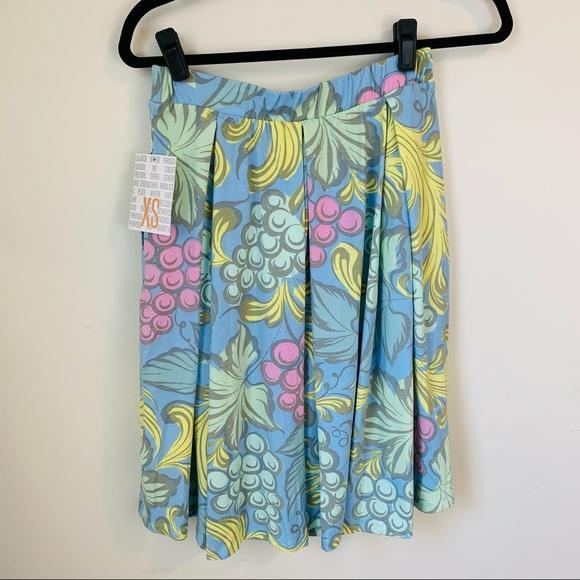 LuLaRoe Madison Skirt XS NWT Grapes